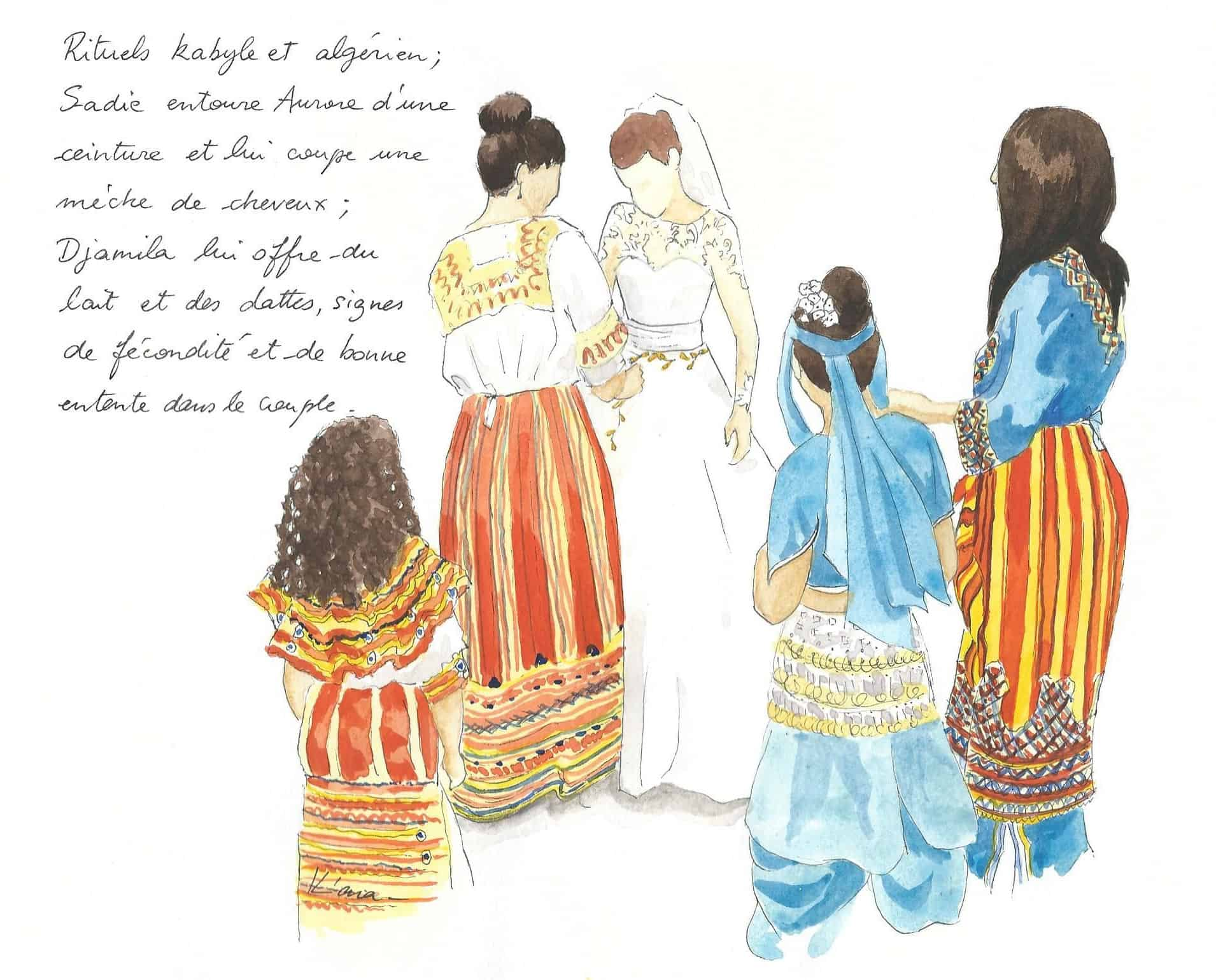 Live painting with an Algerian wedding ritual, Spain