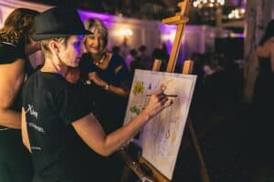 Live event painter in Cannes, South of France